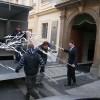 Sculptures arriving at Kempinski