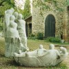1995, San Gimignano, concrete model for fountain, h. 180 cm. (later transported to Carrara)