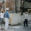 "1996, Carrara, Studio Nicoli. ""In Carrara the stone was cut and chiseled in a period that lasted seven months"