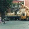 1996, Carrara, summer: The finished fountain ...to Brussels!