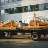 1996, Brussels, Rixensart.  The fountain arrival